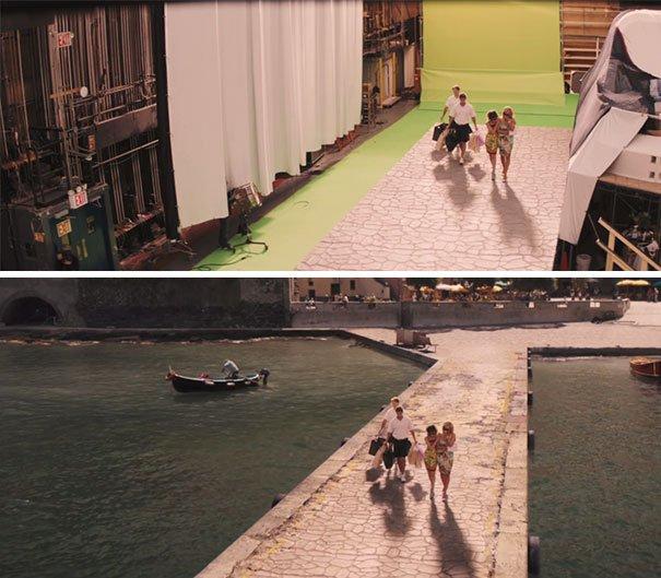 40 imagens de filmes e séries antes e depois dos efeitos especiais 14