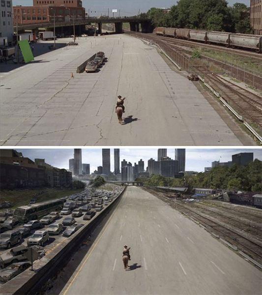 40 imagens de filmes e séries antes e depois dos efeitos especiais 15