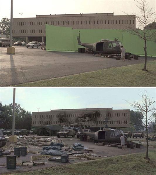 40 imagens de filmes e séries antes e depois dos efeitos especiais 16