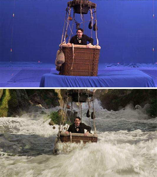 40 imagens de filmes e séries antes e depois dos efeitos especiais 18