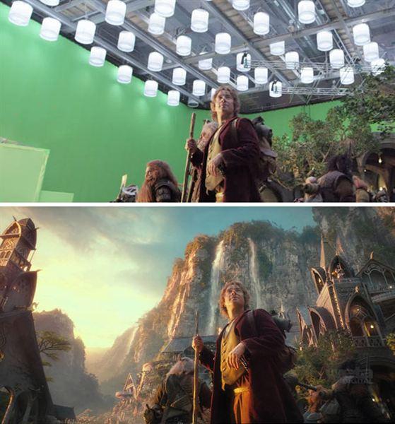 40 imagens de filmes e séries antes e depois dos efeitos especiais 20