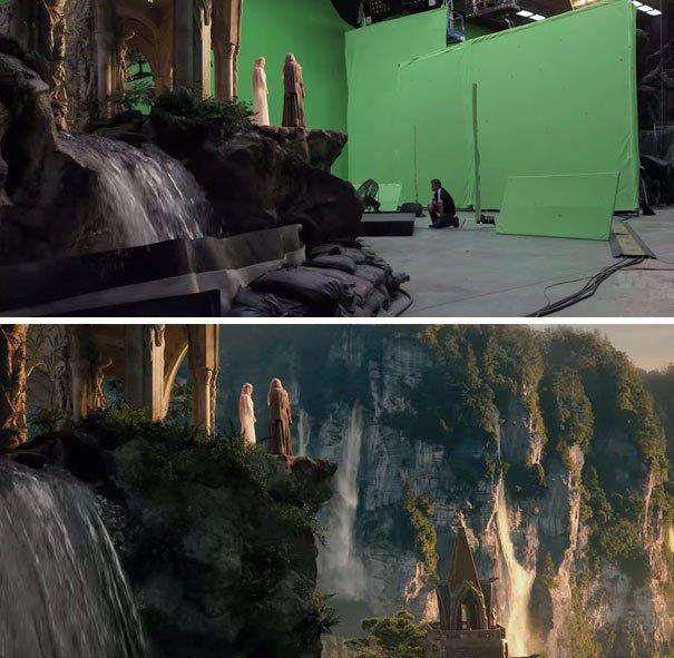 40 imagens de filmes e séries antes e depois dos efeitos especiais 21