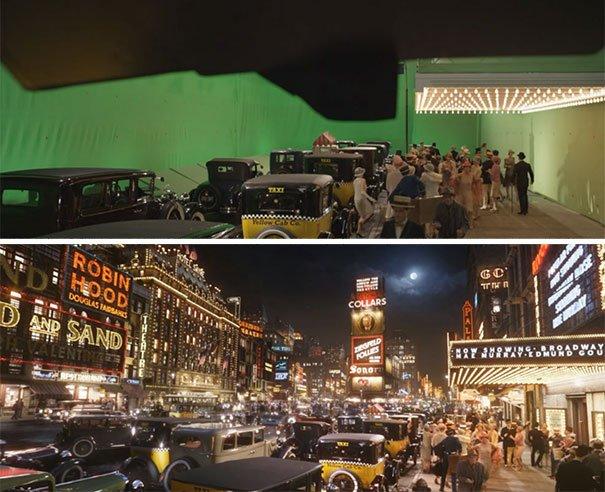 40 imagens de filmes e séries antes e depois dos efeitos especiais 22