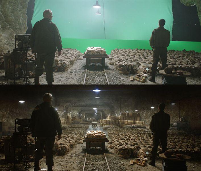40 imagens de filmes e séries antes e depois dos efeitos especiais 30