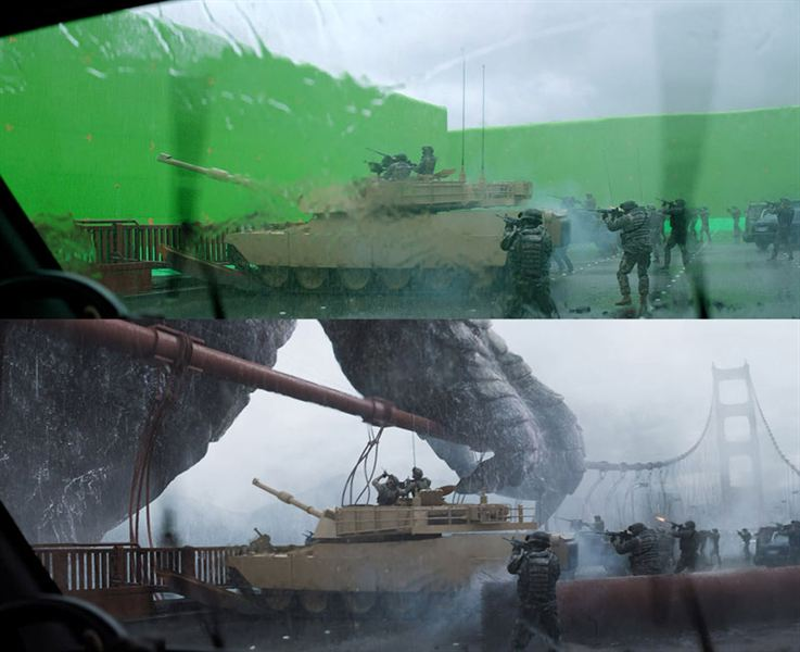 40 imagens de filmes e séries antes e depois dos efeitos especiais 33
