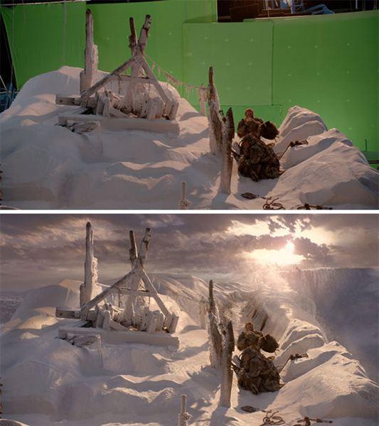 40 imagens de filmes e séries antes e depois dos efeitos especiais 35