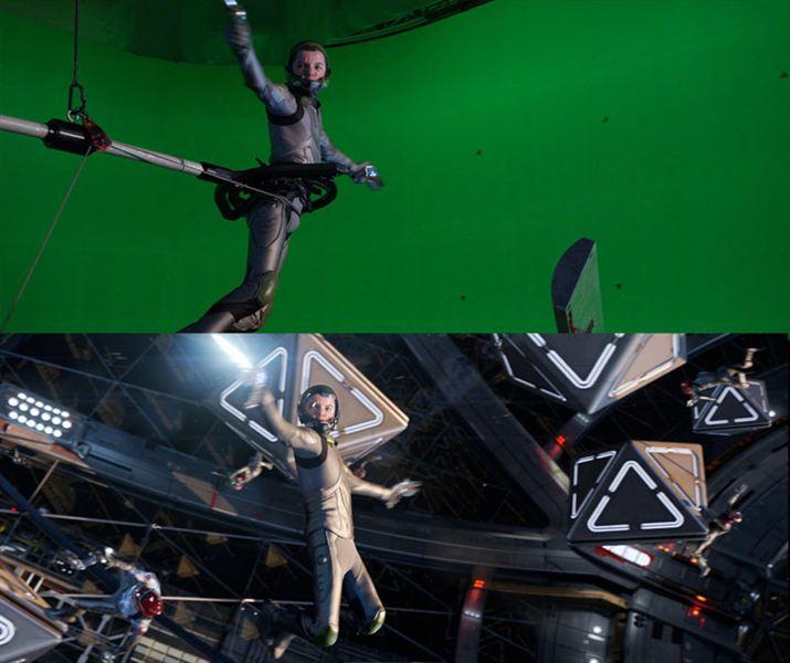 40 imagens de filmes e séries antes e depois dos efeitos especiais 36
