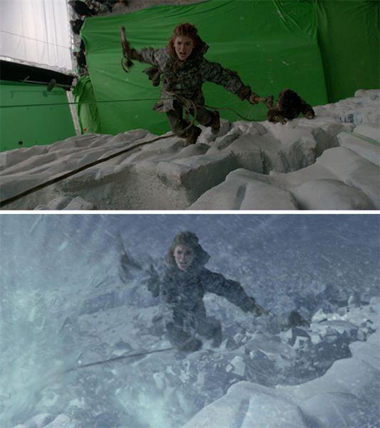 40 imagens de filmes e séries antes e depois dos efeitos especiais 37