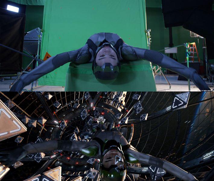 40 imagens de filmes e séries antes e depois dos efeitos especiais 38