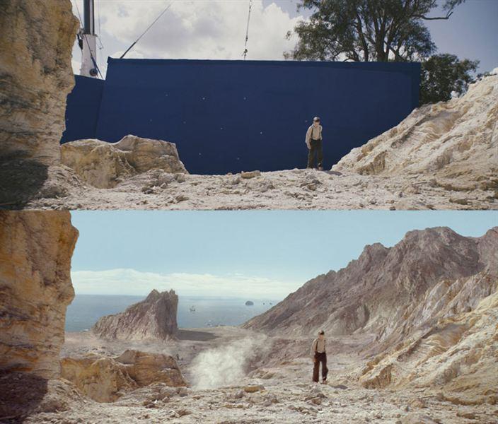 40 imagens de filmes e séries antes e depois dos efeitos especiais 41