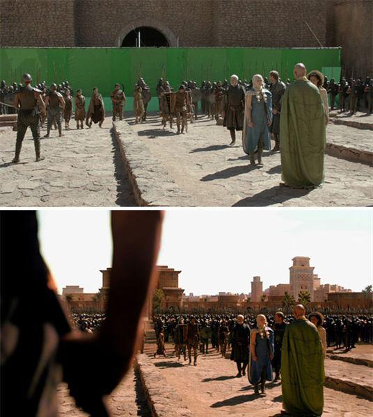 40 imagens de filmes e séries antes e depois dos efeitos especiais 42