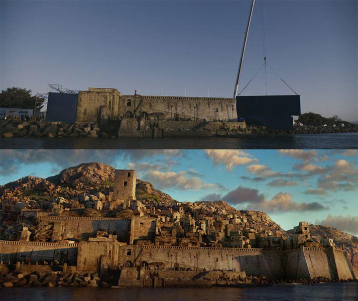40 imagens de filmes e séries antes e depois dos efeitos especiais 43