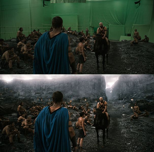 40 imagens de filmes e séries antes e depois dos efeitos especiais 46