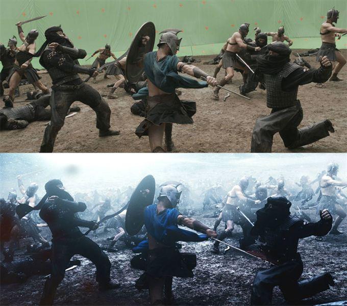 40 imagens de filmes e séries antes e depois dos efeitos especiais 48