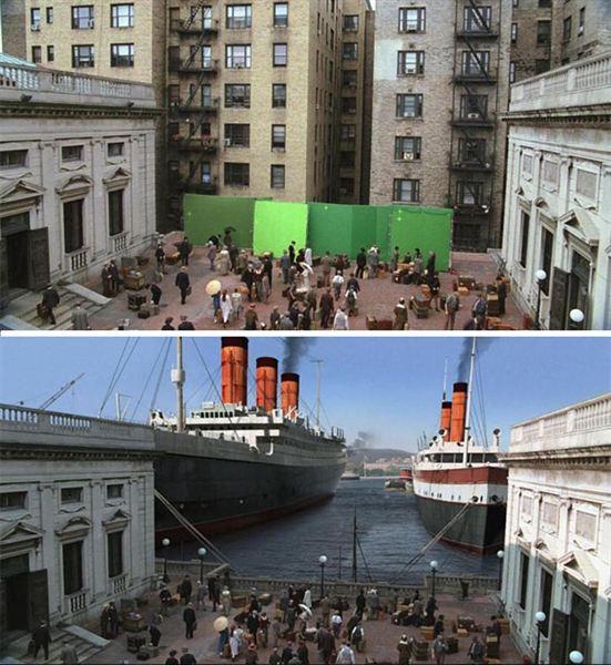 40 imagens de filmes e séries antes e depois dos efeitos especiais 51