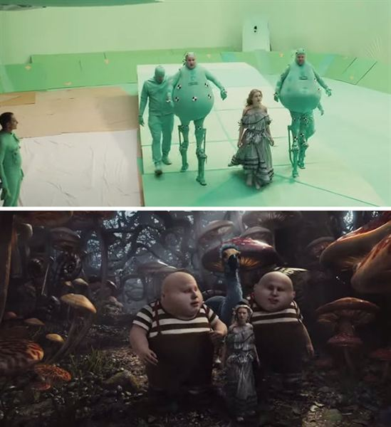 40 imagens de filmes e séries antes e depois dos efeitos especiais 53