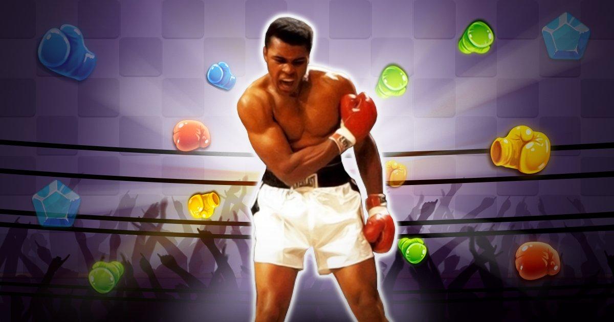 Se torne o campeão dos campeões em Muhammad Ali Puzzle King 17
